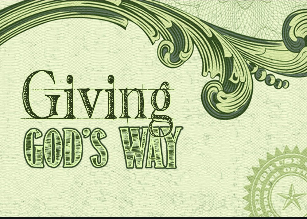 Giving God\'s Way